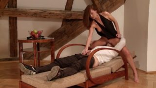 Hot slut got fucked with real and strap on dick
