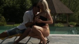 Nice blonde takes fat cock
